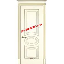 Дверь Смальта 03 Слоновая кость ral 1013 патина золото  Эмаль глухое (Товар № ZA 13335)