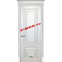 Дверь Смальта 04 Белый ral 9003 патина серебро  Эмаль глухое (Товар № ZA 13339)