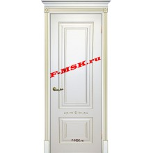 Дверь Смальта 04 Белый ral 9003 патина золото  Эмаль глухое (Товар № ZA 13340)