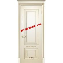 Дверь Смальта 04 Слоновая кость ral 1013 патина золото  Эмаль глухое (Товар № ZA 13341)