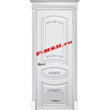 Дверь Смальта 05 Белый ral 9003 патина серебро  Эмаль глухое (Товар № ZA 13345)