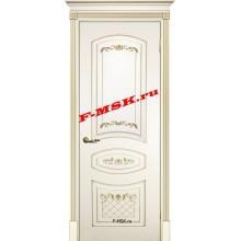 Дверь Смальта 05 Слоновая кость ral 1013 патина золото  Эмаль глухое (Товар № ZA 13347)