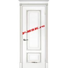 Дверь Смальта 08 Белый ral 9003 патина серебро  Эмаль глухое (Товар № ZA 13359)