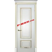 Дверь Смальта 08 Белый ral 9003 патина золото  Эмаль глухое (Товар № ZA 13360)