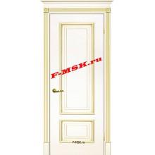 Дверь Смальта 08 Слоновая кость ral 1013 патина золото  Эмаль глухое (Товар № ZA 13363)