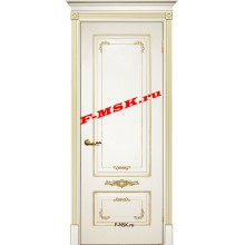 Дверь Смальта 09 Слоновая кость ral 1013 патина золото  Эмаль глухое (Товар № ZA 13371)