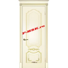Дверь Смальта 10 Слоновая кость ral 1013 патина золото  Эмаль глухое (Товар № ZA 13377)