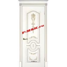 Дверь Смальта 11 Белый ral 9003 патина золото  Эмаль глухое (Товар № ZA 13382)