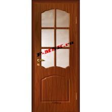 Дверь Лидия Итальянский орех  ПВХ Бронза рифленное со стеклом (Товар № ZA 13480)