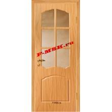 Дверь Лидия Миланский орех  ПВХ Бронза рифленное со стеклом (Товар № ZA 13479)