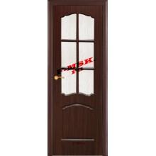 Дверь Лидия Венге (Эбен)  ПВХ Бронза рифленное со стеклом (Товар № ZA 13481)