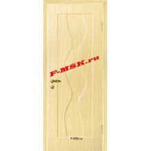 Дверь Вираж Беленый дуб (Береза)  ПВХ Глухое глухое (Товар № ZA 14390)