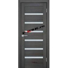 Дверь ТЕХНО-707 Грей  ПВХ Белое сатинато со стеклом (Товар № ZA 14408)