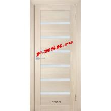 Дверь ТЕХНО-707 Капучино  ПВХ Белое сатинато со стеклом (Товар № ZA 14409)