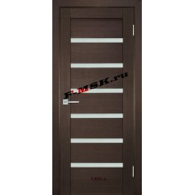 Дверь ТЕХНО-707 Венге  ПВХ Белое сатинато со стеклом (Товар № ZA 14410)