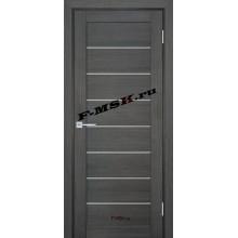 Дверь ТЕХНО-708 Грей  ПВХ Белое сатинато со стеклом (Товар № ZA 14413)