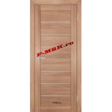 Дверь ТЕХНО-708 Миндаль  ПВХ Белое сатинато со стеклом (Товар № ZA 14416)