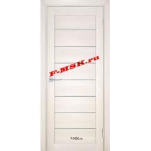 Дверь ТЕХНО-708 Сандал бежевый  ПВХ Белое сатинато со стеклом (Товар № ZA 14417)