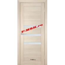 Дверь ТЕХНО-709 Капучино  ПВХ Белое сатинато со стеклом (Товар № ZA 14419)
