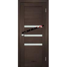 Дверь ТЕХНО-709 Венге  ПВХ Белое сатинато со стеклом (Товар № ZA 14420)