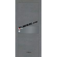 Дверь FX- 3 Ясень кварцевый  Экошпон Серый лакобель со стеклом (Товар № ZA 14506)