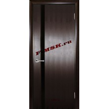 Дверь Страто 01 Тонированный черный дуб  Шпон Черное триплекс со стеклом (Товар № ZA 14494)