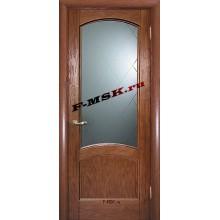 Дверь Вайт 01 Дуб  Шпон Белое, гравированное, рис. Готика со стеклом (Товар № ZA 14501)