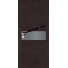 Дверь FX- 3 Ясень шоколад  Экошпон Серый лакобель со стеклом (Товар № ZA 14508)