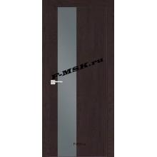 Дверь FX- 6 Ясень шоколад  Экошпон Серый лакобель со стеклом (Товар № ZA 14516)