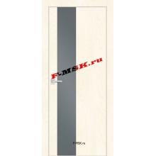 Дверь FX- 6 Ясень Слоновая кость  Экошпон Серый лакобель со стеклом (Товар № ZA 14518)
