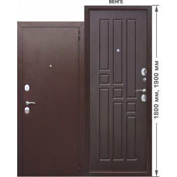 Входная металлическая дверь Феррони Гарда mini в цвете Медный антик / Венге |Полотно 6 см, Металл 1.2 мм, Вес 48 кг (Товар № ZF104373)