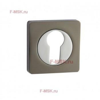 Накладки под цилиндр ET02BN/CP черный никель/хром (Товар №  ZA11709)