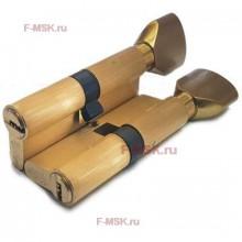Механизм цилиндрический с повышенной секретностью PC60мм-PC110мм SB матовое золото