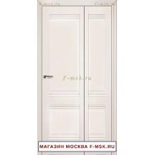 Межкомнатная дверь книжка Складная 1U магнолия сатинат (Товар № ZF112713)