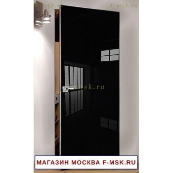 Скрытая межкомнатная дверь Черная 1LK (Товар № ZF112746)