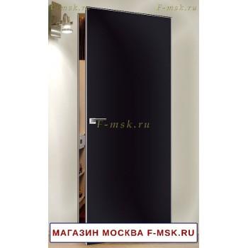 Скрытая межкомнатная дверь Черная 1E без наличников (Товар № ZF112748)