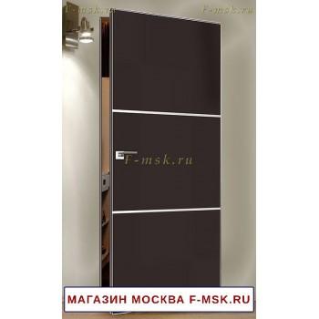 Скрытая межкомнатная дверь Коричневая 2E с молдингами (Товар № ZF112750)