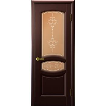 Межкомнатная дверь АНАСТАСИЯ (Венге, стекло) со стеклом, венге (Товар № ZF190939)
