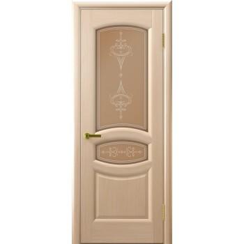 Межкомнатная дверь АНАСТАСИЯ (белый дуб, стекло) со стеклом, беленый дуб (Товар № ZF190935)