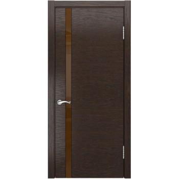 Межкомнатная дверь АРТ-3 (лакобель) (Мореный дуб) со стеклом, мореный дуб (Товар № ZF190943)