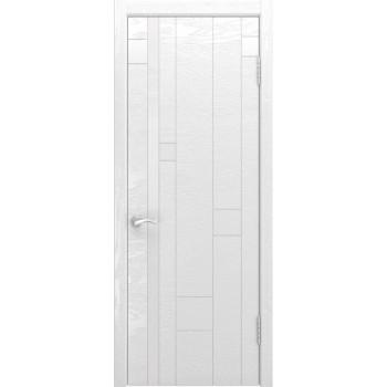 Межкомнатная дверь Арт-1 (ясень белая эмаль) со стеклом, ясень белая эмаль (Товар № ZF190941)