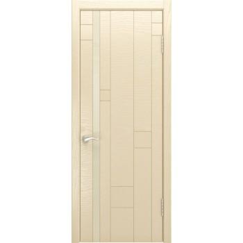 Межкомнатная дверь Арт-1 (ясень слоновая кость) со стеклом, слоновая кость (Товар № ZF190942)