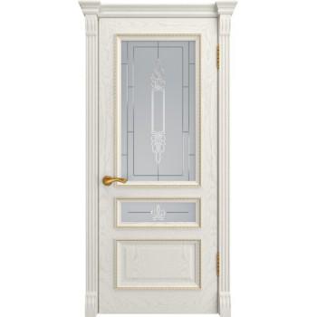 Межкомнатная дверь ФЕМИДА-2 (Дуб RAL 9010, до) со стеклом, дуб ral 9010 (Товар № ZF197050)
