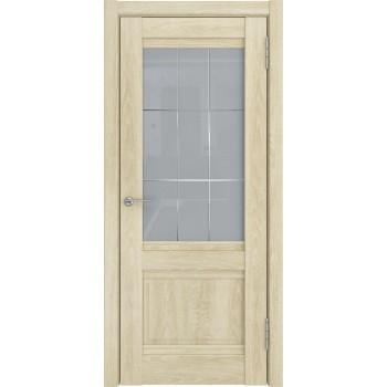 Межкомнатная дверь ЛУ-52 (Дуб филадельфия крем, ст.белое) со стеклом, дуб филадельфия крем (Товар № ZF197045)
