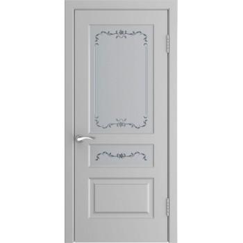 Межкомнатная дверь Модель L-2 (до) со стеклом, манхеттен (эмаль) (Товар № ZF197049)