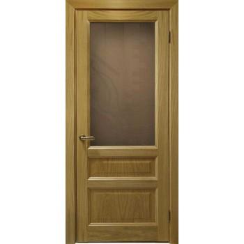 Межкомнатная дверь Атлантис-2 (дуб натуральный, стекло) со стеклом, дуб натуральный (Товар № ZF190950)
