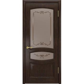 Межкомнатная дверь Деметра (Мореный дуб, до) со стеклом, мореный дуб (Товар № ZF190953)