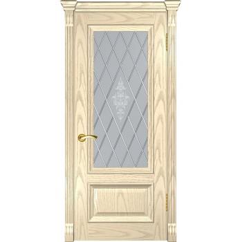 Межкомнатная дверь Фараон-1 (ДО дуб слоновая кость) со стеклом, слоновая кость (Товар № ZF190958)