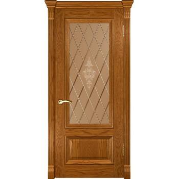 Межкомнатная дверь Фараон-1 (ДО дуб золотистый) со стеклом, дуб золотистый (Товар № ZF190956)