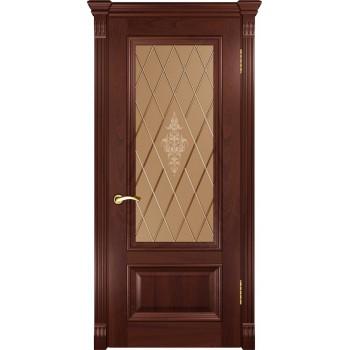 Межкомнатная дверь Фараон-1 (ДО красное дерево) со стеклом, красное дерево (Товар № ZF190960)